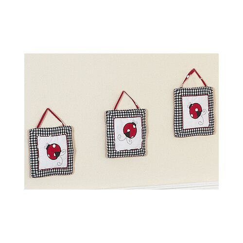 3 Piece Little Ladybug Wall Hanging Set