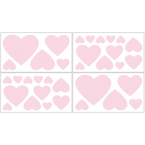 Sweet Jojo Designs Chenille Pink Wall Decal 4 piece set