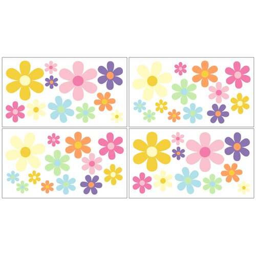 Sweet Jojo Designs Danielle's Daisies Wall Decal 4 piece set