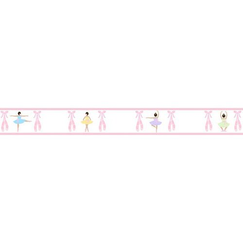 Sweet Jojo Designs Ballerina Wallpaper Border
