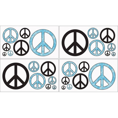 Sweet Jojo Designs Peace Wall Decal 4 piece set