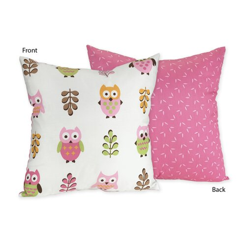 Sweet Jojo Designs Happy Owl Decorative Pillow
