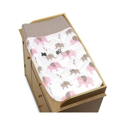 Sweet Jojo Designs Elephant Pink Collection Changing Pad Cover