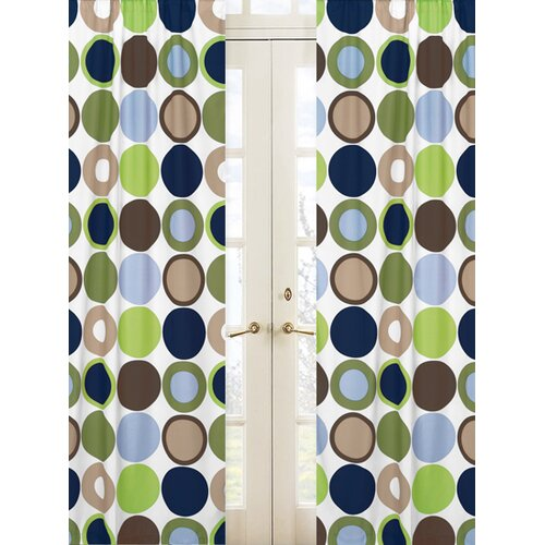 Sweet Jojo Designs Designer Dot Rod Pocket Curtain Panel