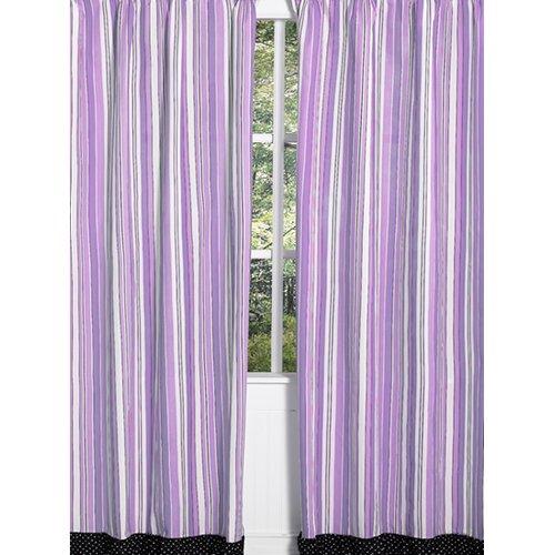 Sweet Jojo Designs Kaylee Cotton Rod Pocket Curtain Panel