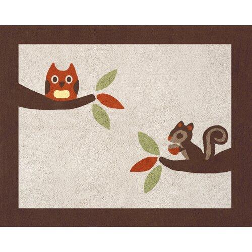 Sweet Jojo Designs Forest Friends Collection Floor Rug