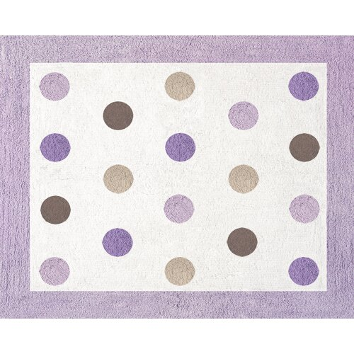 Sweet Jojo Designs Mod Dots Purple Collection Floor Rug