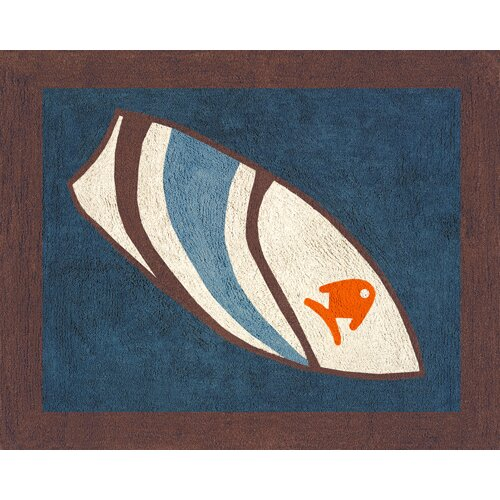 Sweet Jojo Designs Surf Blue Collection Floor Rug