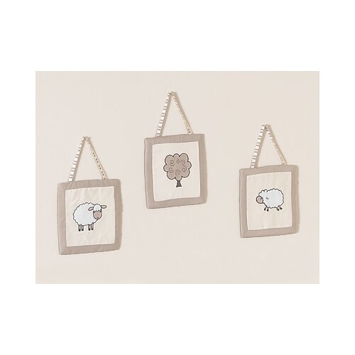 Sweet Jojo Designs 3 Piece Little Lamb Wall Hanging Set