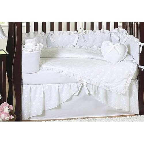 Sweet Jojo Designs Eyelet White 9 Piece Crib Bedding Set