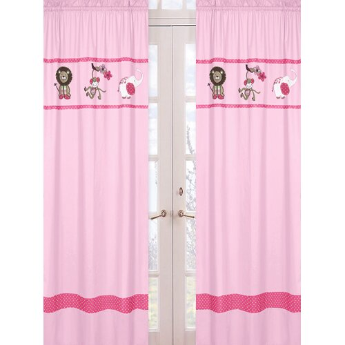 Sweet Jojo Designs Jungle Friends Curtain Panel