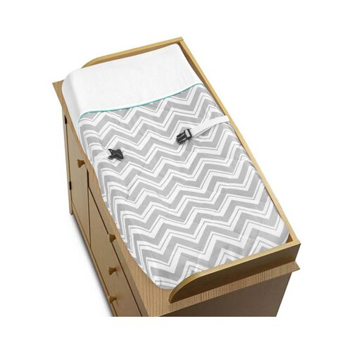 Zig Zag Turquoise and Gray Collection Changing Pad Cover