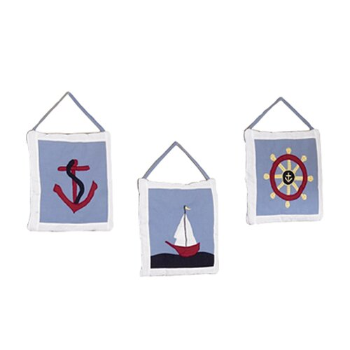 Sweet Jojo Designs Come Sail Away Hanging Art