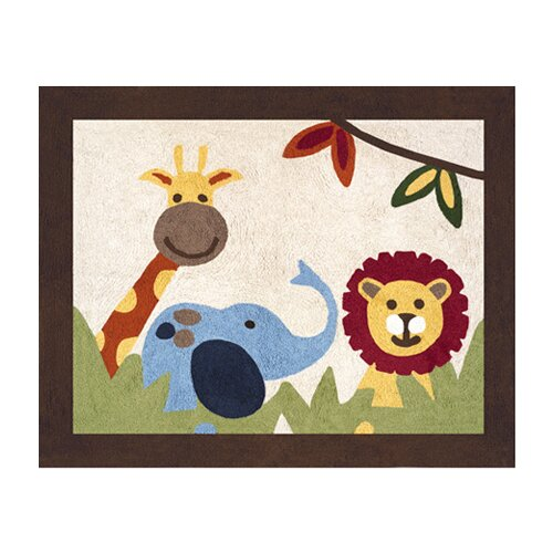 Sweet Jojo Designs Jungle Time Collection Floor Rug