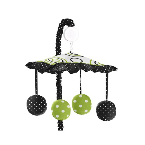 Sweet Jojo Designs Spirodot Lime and Black Musical Mobile
