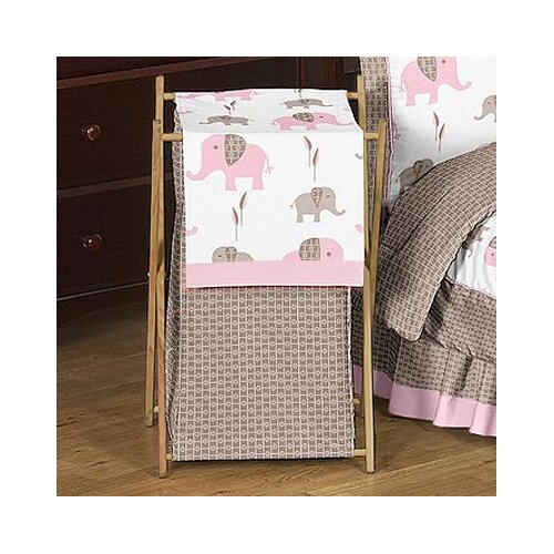Sweet Jojo Designs Elephant Pink Laundry Hamper
