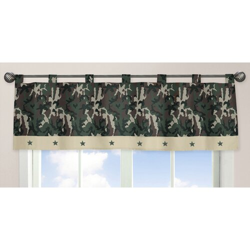 "Sweet Jojo Designs Camo 54"" Curtain Valance"