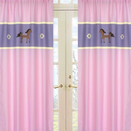 Sweet Jojo Designs Pony Curtain Panel