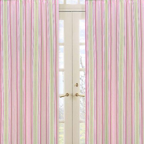 Sweet Jojo Designs Jungle Friends Stripe Print Curtain Panel