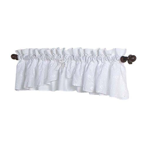 "Sweet Jojo Designs Eyelet White 84"" Curtain Valance"