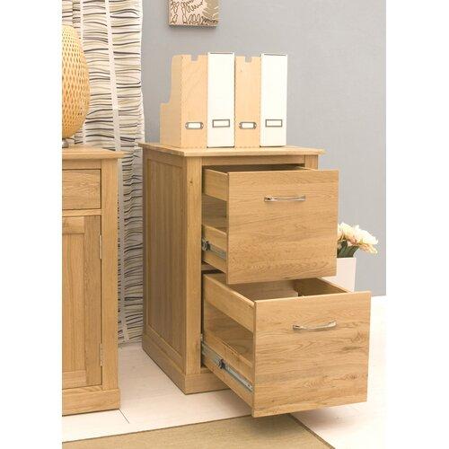 Baumhaus Mobel Oak 2 Drawer Filing Cabinet