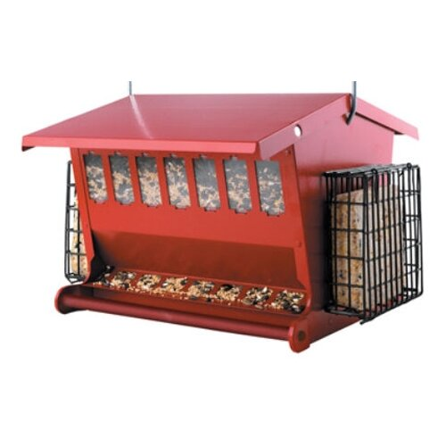 Red Seeds N More Hopper Bird Feeder