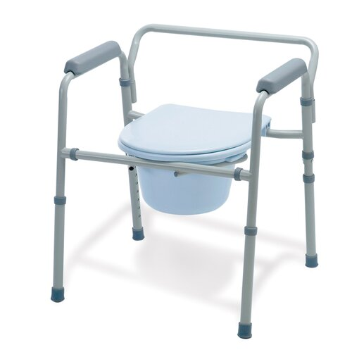 Medline Folding 3 in 1 Commode (Case of 4)