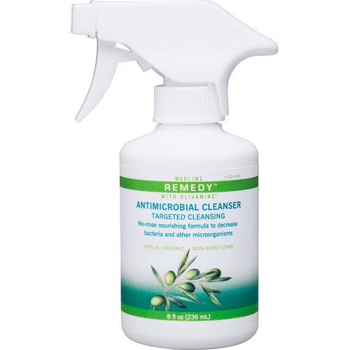 Medline Remedy 8 Oz Antimicrobial Cleanser 12 Count Case