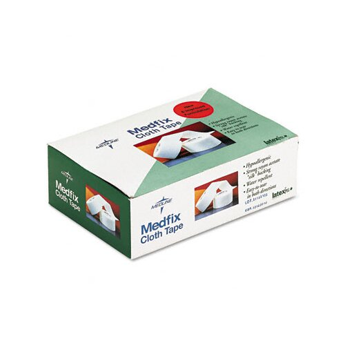 "Medline First Aid Cloth Tape, 2""x 10 Yards, Opaque White, 6 Rolls per Case"