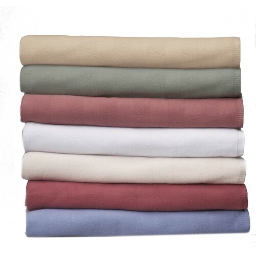 Medline Herringbone Spread Cotton / Polyester Throw Blanket