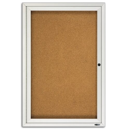 Quartet® Enclosed 3' x 2' Bulletin Board