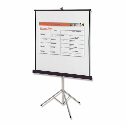 Quartet® Matte White Portable Projection Screen