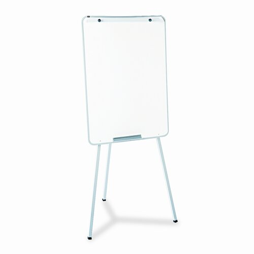 Quartet® Oval Office Dry Erase Presentation Easel, Melamine, 29 x 40, Gray, Framed