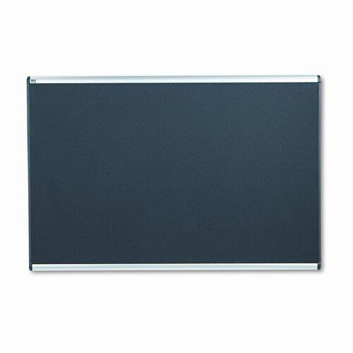 Quartet® Embossed Bulletin Board, Hi-Density Foam, 72x48, Black, Aluminum Frame