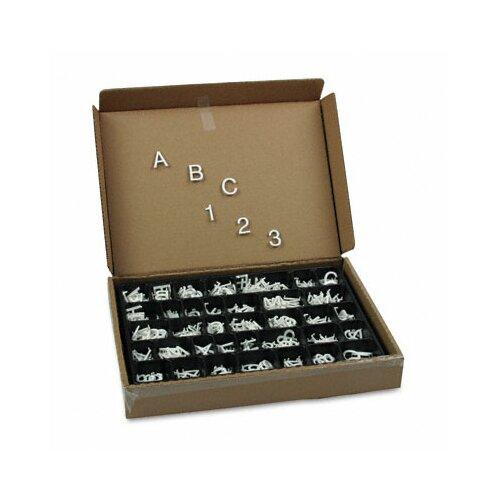 Quartet® Plastic Helvetica Characters for Grooved Felt Boards in White