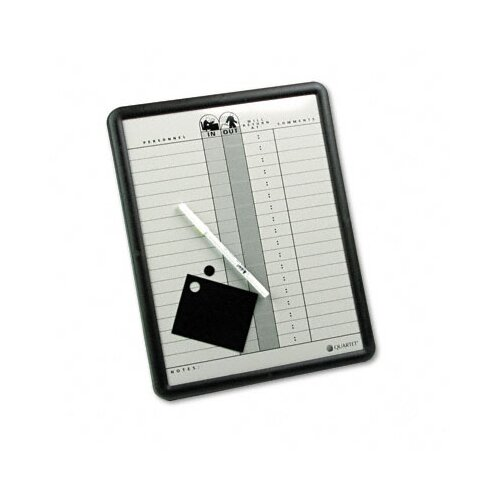 "Quartet® Employee In/Out 1'2"" x 11"" Whiteboard"