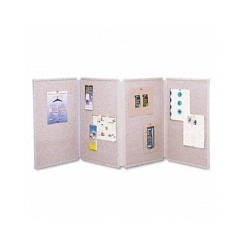 "Quartet® Tabletop Display Presentation 2' 6"" x 6' Bulletin Board"