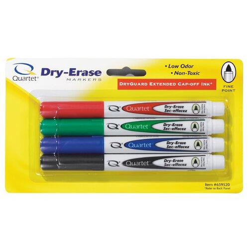 Quartet® 4 Count Assorted Fine Tip Dry Erase Marker
