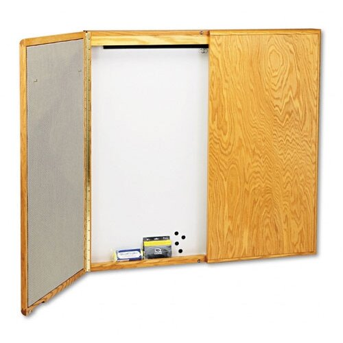 Quartet® Veneer Conference Room Cabinet 4' x 4' Bulletin Board