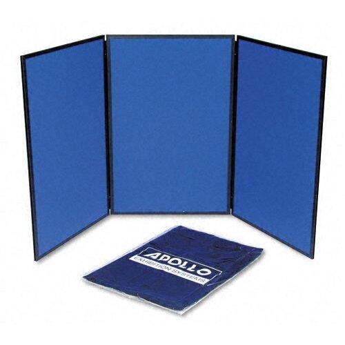 Quartet® ShowIt Three-Panel Display System with Black PVC Frame