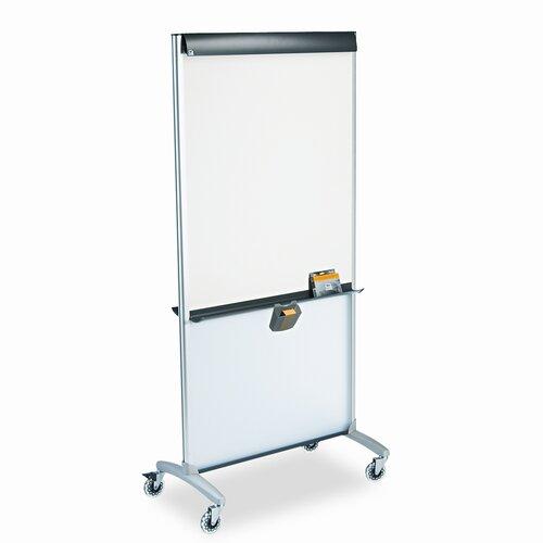 Quartet® 3-in-1 Presentation Easel, Dry-Erase, 33 1/2 x 39 1/2, Silver Frame
