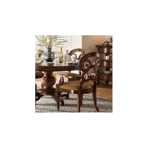 British Heritage Butterfly Back Arm Chair (Set of 2)