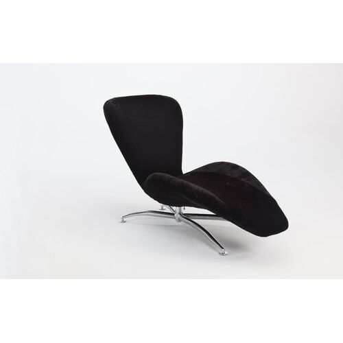 Emerald Home Furnishings Caresse Fabric Chaise Lounge