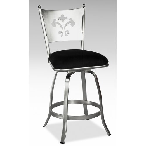 Chintaly Imports Andrea Swivel Bar Stool with Cushion