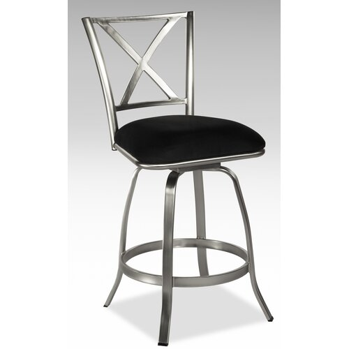 Chintaly Imports Audrey Swivel Bar Stool with Cushion