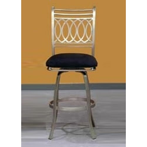 "Chintaly Imports Julia Swivel 30"" Bar Stool with Cushion"