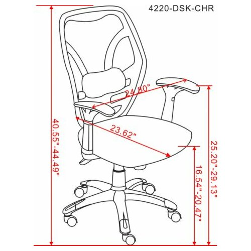 Chintaly Imports High-Back Mesh Office Chair