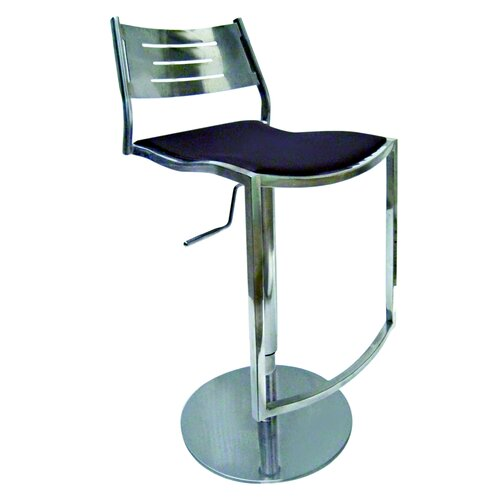 Chintaly Imports Adjustable Swivel Bar Stool with Cushion