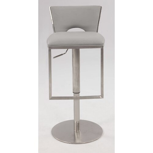 Chintaly Imports Adjustable Bar Stool with Cushion