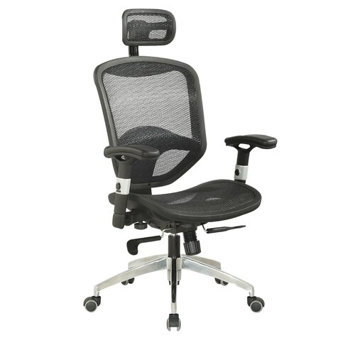 Mid-Back Adjustable Mesh Office Chair with Headrest